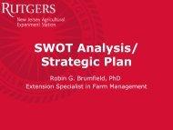 SWOT Analysis/ Strategic Plan - Rutgers, The State University of ...