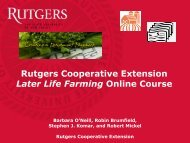 Rutgers Cooperative Extension Later Life Farming Online Course