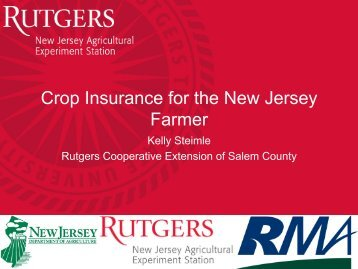 Crop Insurance for the New Jersey Farmer