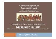 Unterrichten in heterogenen Lerngruppen - Kooperation ... - Hessen