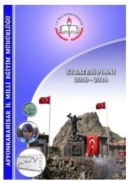 2012-2014 Stratejik Plan - Afyonkarahisar Milli Eğitim Müdürlüğü ...