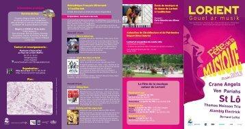 Télécharger le programme en pdf - Lorient
