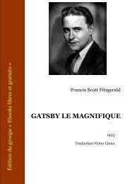 Gatsby le magnifique - Livresnumeriquesgratuits.com