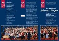 42. Stuttgarter Advents-Singen - Arbeitsgemeinschaft der Sing-, Tanz