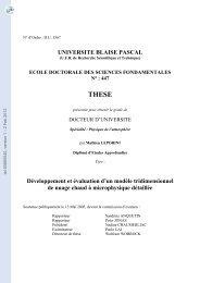 Développement et évaluation d 'un modèle tridimensionnel de ...