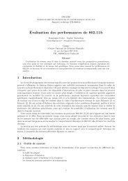 Evaluation des performances de 802.11b - Grame