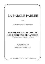 BRANHAM MARRION WILLIAM TÉLÉCHARGER PDF DE BROCHURES LES