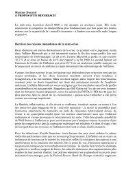 Maxime Durand A PROPOS D'UN MINI-KRACH La mini ... - Hussonet
