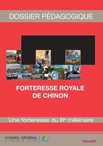 Téléchargez le dossier enseignants - Forteresse Royale de Chinon