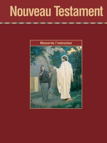 Nouveau Testament, Manuel de l'instructeur