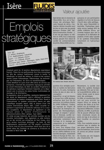 FT73. L'Isère, première concentration en emplois stratégiques après ...