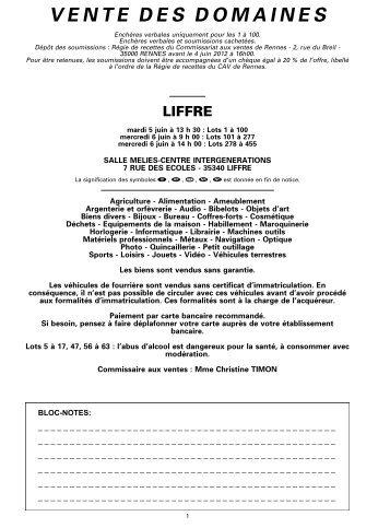 Consulter la version pdf - Ventes Domaniales
