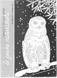 Le Jeune Naturaliste – Décembre 1960.