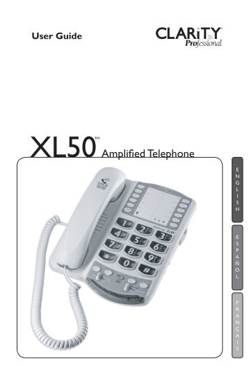 XL50TM - Center for Hearing Loss Help
