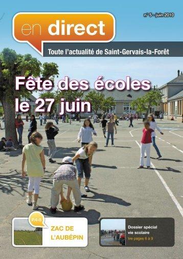 en direct - Commune de Saint Gervais la Forêt