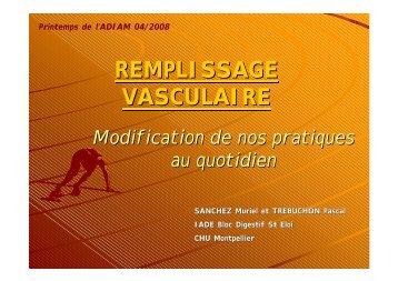 Remplissage vasculaire en pratique