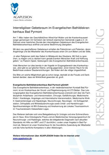 PM_Interreligiöser Gebetsraum im Evangelischen ...