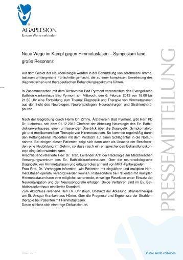 PM_Evangelische Bathildiskrankenhaus Bad Pyrmont _ Symposium ...