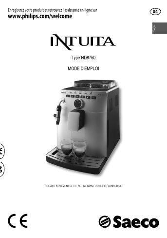 Intuita Silver manuel mode d'emploi en pdf - Machine à café