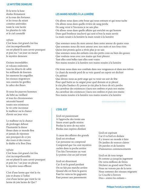 Les Paroles Des Chansons Philippe Forcioli