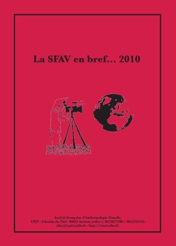 Brochure 2010(pdf) - Société Français d'Anthropologie Visuelle