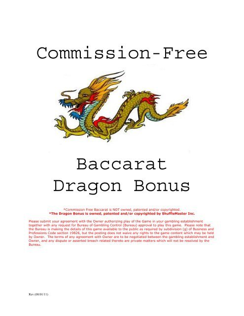 Commission Free Baccarat