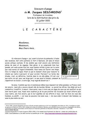 de M. Jacques DESJARDINS LECARACT È RE - Photos du lycée ...