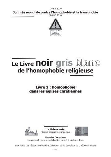 Livre noir, gris, blanc de l'homophobie religieuse - Archive-Host