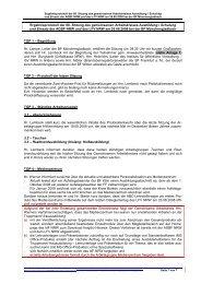 Ergebnisprotokoll der 68. Sitzung des gemeinsamen ... - AGBF NRW