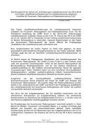 Abschlussbericht der Ad-hoc-AG ?Anforderungen Leitstellenpersonal?