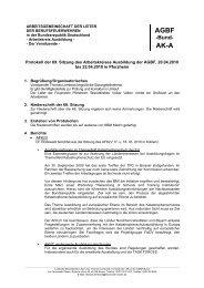 Protokoll AK A Bund 69. Sitzung April 2010 Pforzheim - AGBF NRW