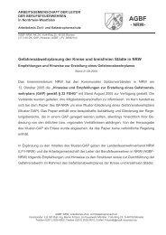 Gefahrenabwehrplanung der Kreise und kreisfreien ... - AGBF NRW