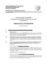 Selbstschutz und Selbsthilfe - AGBF NRW