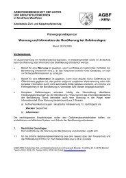 ARBEITSGEMEINSCHAFT DER LEITER - AGBF NRW