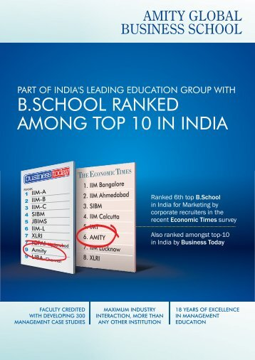 indore new bro. 20.8.2011 - Amity Global Business School