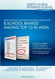 part of india's - Amity Global Business School