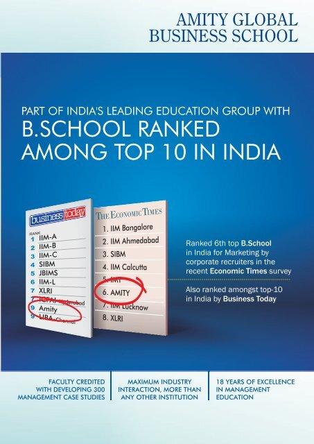 kolkata brochure2011 - Amity Global Business School