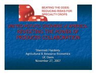 United Potato Growers of America: Revisiting the Power of Producer ...