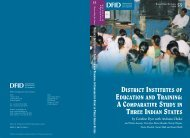 District Institutes of Education and Training - Teacher Education