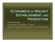 Economics of Walnut Establishment and Production - Agricultural ...