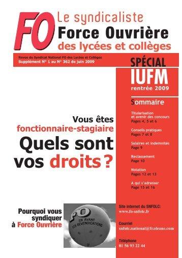 Spécial IUFM 2009 - snfolc 44 - Free