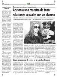 Acusan a una maestra de tener relaciones sexuales con un alumno