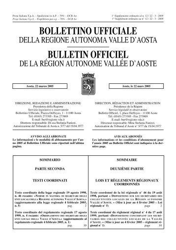 186 Kb 0' 46 - Regione Autonoma Valle d'Aosta