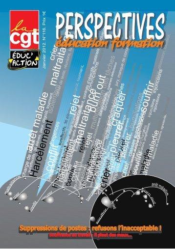 Notre publication nationale (janvier 2012) - CGT-Éduc'action ...
