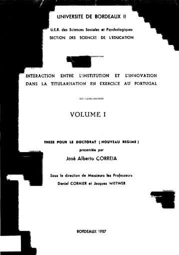 VOLUME I - Repositório Aberto da Universidade do Porto