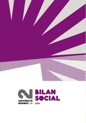 Bilan social 2009 - Université Rennes 2