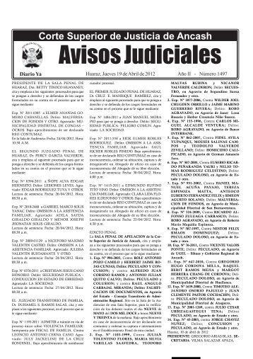 N° 1497 - 19 de Abril 2012 - Diario Ya