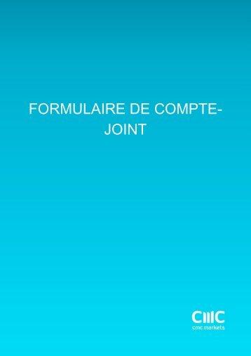 FORMULAIRE DE COMPTE- JOINT - CMC Markets