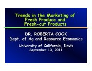 Trends in the Marketing of Fresh Produce and Fresh-cut Products