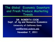 The Global Economic Downturn and Fresh Produce Marketing Trends